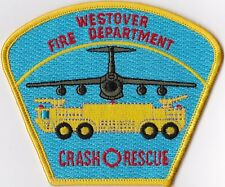 Westover Fire Department Crash Rescue Massachusetts Firefighter Patch