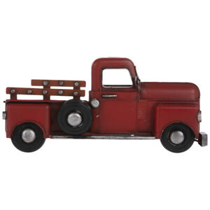 Red Pickup Truck Metal Wall Decoration Home Office Decor Man Cave
