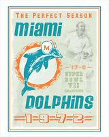 Miami Dolphins - Perfect Season - poster print