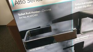 HIB ATTO CHROME TOILET ROLL HOLDER RRP £62 ACATCH01