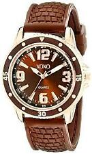 XOXO Women's XO8068 Brown Analog Silicone Strap Watch