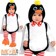 Penguin Infants Fancy Dress Animal Bird Zoo Toddler Baby Costume 0-12 Months New