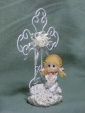 Christening/Communion Collectible Iron-wired Cross/Praying Girl (142G)(Lot of 6)