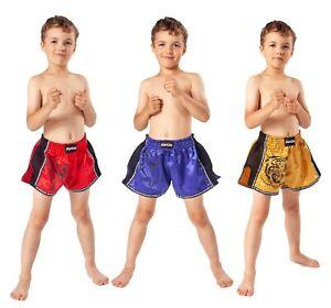 KWON Kinder Muay Thai Box und Kickboxen Shorts. Gr. 104 - 152. Mit Kordelzug.