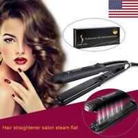 Professional HairStyler Steam Flat Iron Straightener plus Argan Oil Croc Clip
