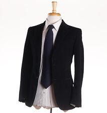 NWT $2995 BELVEST Black Cotton Corduroy Suit Slim 34 R (Eu 44) Two-Button