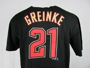 Arizona Diamondbacks #21 Zack Greinke Men's Cross Stitch Style Jersey Tee MLB