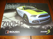 2013 ROUSH SUPERCHARGER MUSTANG F-150 ***DOUBLE SIDED SALES SHEET / BROCHURE***