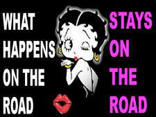 What Happens On The Road Stays On The Road, HARD HAT STICKER  S-59