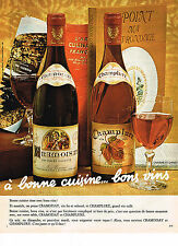 PUBLICITE ADVERTISING 034  1973  CRAMOISAY & CHAMPLURE   bons vins
