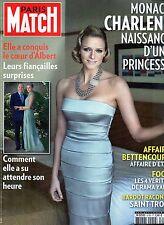 Paris Match.Charlene Wittstock,Robert Pattinson,Brigitte Bardot,Martine Aubry,ii