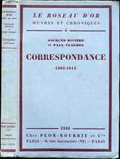 CORRESPONDANCE Jacques Rivière-Paul Claudel ;1926,E.O.