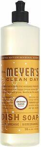 Clean Day Liquid Dish Soap by Mrs. Meyer's, 16 oz Orange Clove