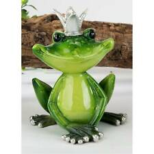 Dekofigur Froschkönig H. 12cm B. 11cm grün aus Poly Formano