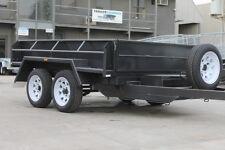 "Box Tipper 8x5 Tandem Hydraulic Tipper Trailer - 15"" Sides - New tyres"