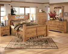 Ashley Bittersweet B219 Queen Size Poster Bedroom Set 6pcs in Light Brown Casual