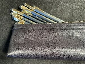 Leatherology Black Leather Pencil Case with Palamino Blackwing 602 Pencil Set