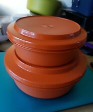 VINTAGE TUPPERWARE  SEAL & SERVE BOWL WITH STRAINER AND SMALL BOWL  & LID
