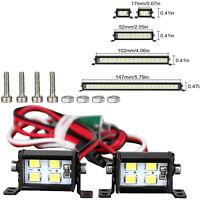 Double Row Spotlight Roof Lamp Light Bar for 1/10 RC Climbing Car SCX10 D90 TRX4