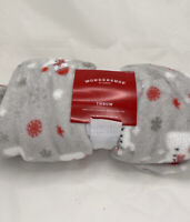 Holiday Snowman Plush Throw Blanket Gray - Wondershop - 50 x 60 in