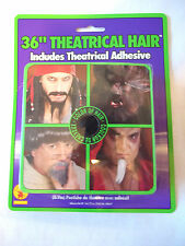 """Crepe Hair 36"""" Black Theatrical Make your own  Moustache"""