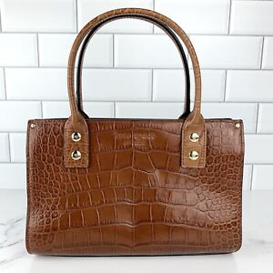 RARE! Kate Spade Croc-Embossed Leather Small Top Handle Bag