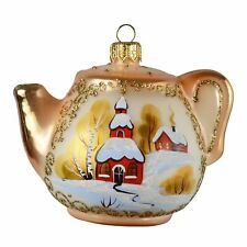 """Teapot"" Glass Christmas Ornament"