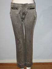 DIESEL Size 28 Silver Gray with 2 Front Zipped Pocket Jeans