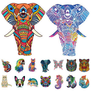A3 Wooden Jigsaw Puzzles Unique Animal Shape Adult Kid Toy Gift Home Decor AU