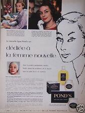PUBLICITÉ 1957 CRÈME POND'S DÉDIÉE À LA FEMME NOUVELLE - ADVERTISING