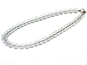 Sterling Silver Crystal Glass Necklace