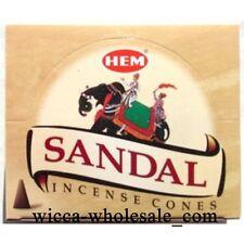 One Box of 10 cones Hem Sandal Sandalwood Incense (10 Cones) wholesale