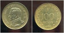 ARGENTINE  100 pesos 1980  ( JOSE SAN MARTIN )  ( bis )