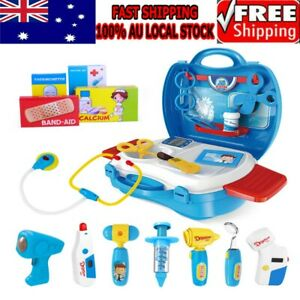 iBaseToy 27PC Kids Pretend Doctor Play Educational Case Medical Set Hospital Toy