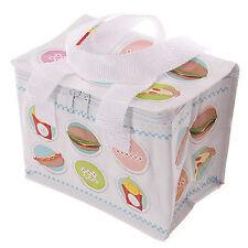 Gewebte mini Kühltasche Lunchbox FAST FOOD Isoliertasche Picknicktasche klein