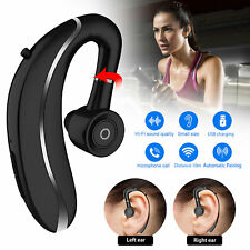 Wireless Bluetooth 5.0 Earpiece Driving Trucker Headset Earbuds Noise Cancelling
