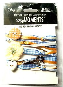 Offray SEWING Charmed Ribbon Trios - Scrapbook Stamping Cardmaking Crafts
