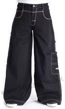 Bleubolt Goth Skater Jeans 34 Inch Saum große Größe super Baggy Loose Fit Style 1500