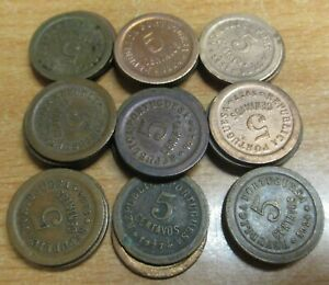 PORTUGAL LOT OF 30 COINS X 5 CENTAVOS 1924-1927 KM 572