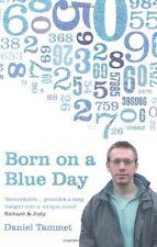 Born On A BLUE giorno di Daniel Tammet libro tascabile 9780340899755 NUOVO