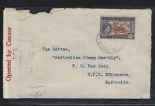 GILBERT & ELLICE ISLANDS (P1609B) KGVI 2D CENSOR COVER TO AUSTRALIA