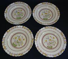 Spode Copeland England Buttercup 4 Dinner Plates - Old Mark -Some Discoloration