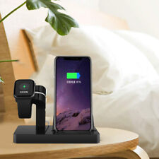 US Charging Dock Pad Stand Bracket 2in1 For Apple Watch 5/4/3/2/1 iPhone 11 8 XS