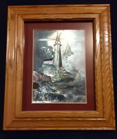 The Lord Is My Light Danny Hahlbohm Framed Christian Wall Art Holographic 13x11