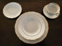 VTG Wawel Fine China 5 Piece Place Setting Casa Oro pattern Made In Poland