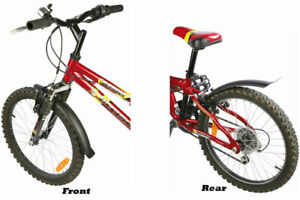 "Zefal Bike Mudguard Kid's for 16"" & 20 Inch Wheels Black Front & Rear"