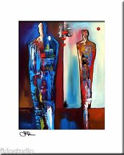 FORWARD - Original Abstract Painting Modern Art Figure Print decor by Fidostudio