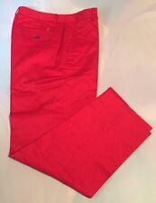 Ralph Lauren Golf Women Sweet Red Shelby Cropped Classy Pant Sz 6