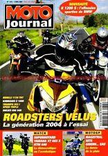 MOTO JOURNAL 1615 YAMAHA XT 660 KTM LC4 DUCATI 996 S4 KAWASAKI Z1000 TRIUMPH 955