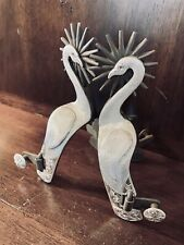 New ListingClassic Handmade Sterling Silver Inlay Swan Motif Single Mounted Spurs Marked